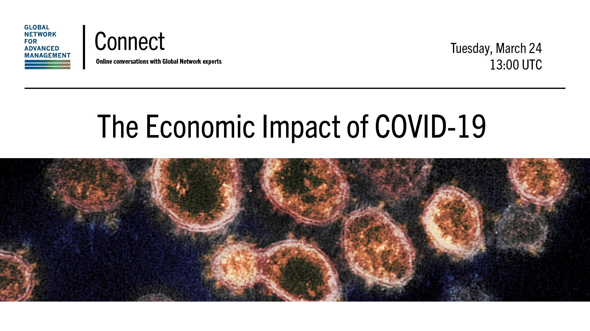 Information about the event illustrated by an image of a COVID-19 virus