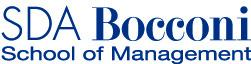 The logo for SDA Bocconi School of Management, Bocconi University